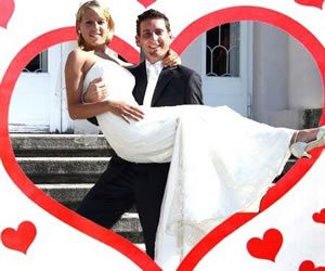 Herz ausschneiden Hochzeit